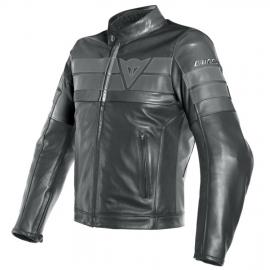 Dainese 8-TRACK pánská kožená bunda na motorku, černá, kůže