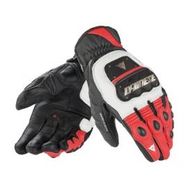 Pánské motocyklové rukavice Dainese 4 STROKE EVO bílá/červená/černá
