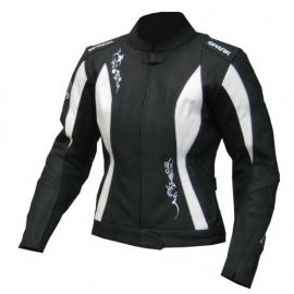 Dámská kožená moto bunda Spark Jane, bílá
