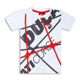 Dětské tričko Ducati Graphic Net bílé, originál