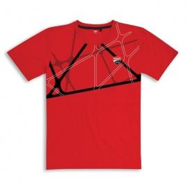Pánské tričko Ducati Graphic Net červené, originál