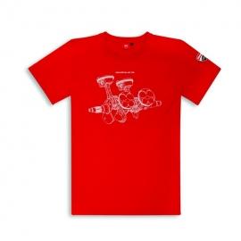 Pánské tričko Ducati Panigale V4 červené, originál