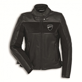 Dámská kožená moto bunda Ducati Company C2 černá, originál
