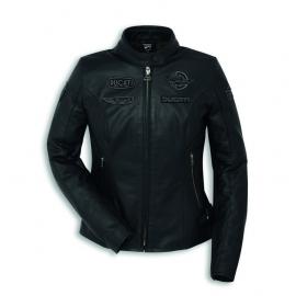 Dámská kožená moto bunda Ducati Heritage C1 černá, originál