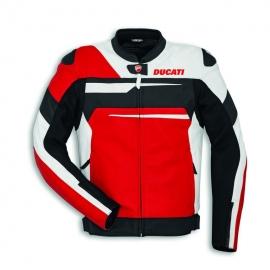 Pánská kožená moto bunda Ducati Speed EVO C1 červená, originál