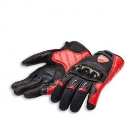 Pánské kožené moto rukavice Ducati Company C1 černo-červené, originál