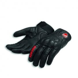 Pánské kožené moto rukavice Ducati Logo C1 černé, originál