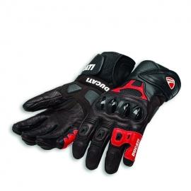 Pánské kožené moto rukavice Ducati Speed Air černo-červené, originál