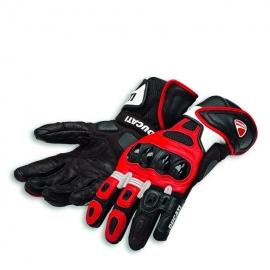 Pánské kožené rukavice Ducati Speed Air C1 černo-červeno-bílé, originál