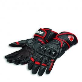 Pánské kožené moto rukavice Ducati Speed EVO C1 černo-červené, originál
