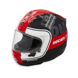 Moto helma Ducati Corse V3 červená, originál