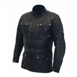 Pánská kožená moto bunda Spark Romp, černá