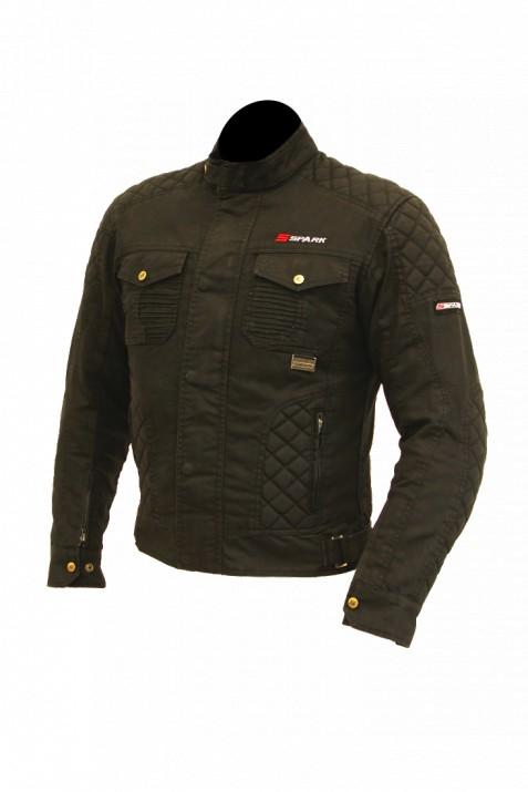 Pánská textilní moto bunda SPARK SCRAMBLER, černá