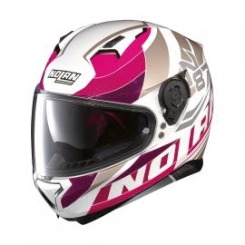Moto helma Nolan N87 Plein Air N-Com Metal White 47