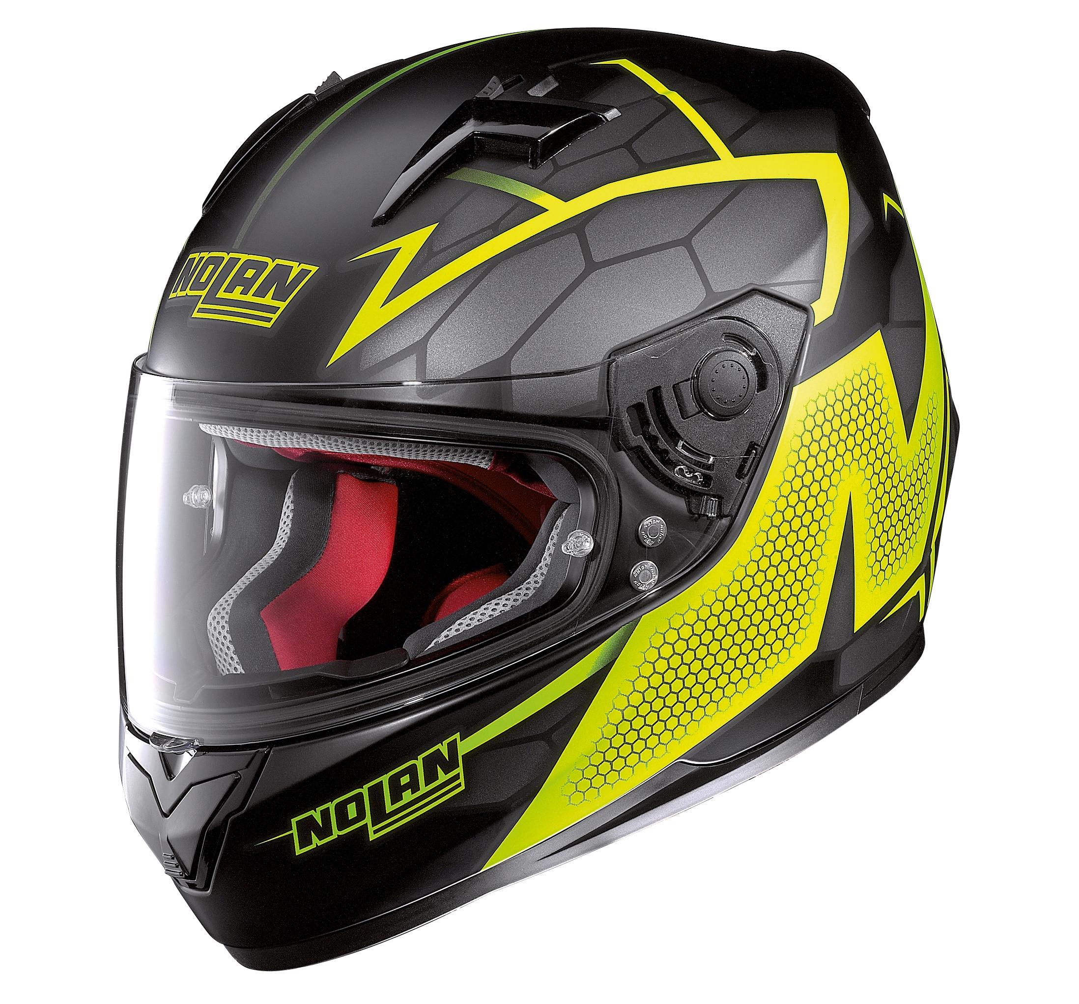 Moto helma Nolan N64 Hexagon Flat Black 85