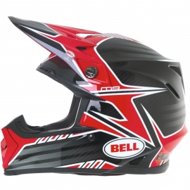 Moto helma Bell Moto-9 Carbon Pinned Red