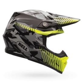 Moto helma Bell Moto-9 Yellow Camo