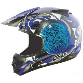 Moto helma Cyber UX-25, modrá