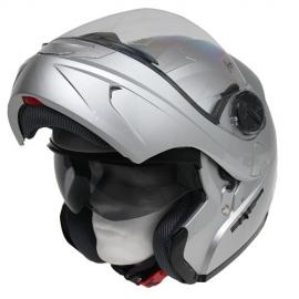 Moto helma Cyber U-217 stříbrná - M