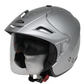 Moto helma Cyber U-388 stříbrná