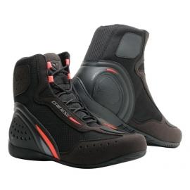 Kotníkové moto boty Dainese MOTORSHOE D1 AIR černá/fluo červená/antracitová