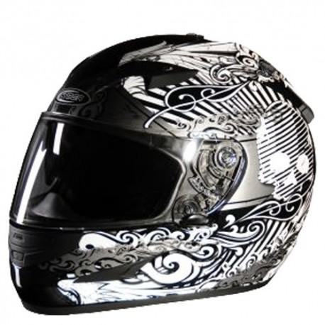 Moto helma Cyber US-97 stříbrná