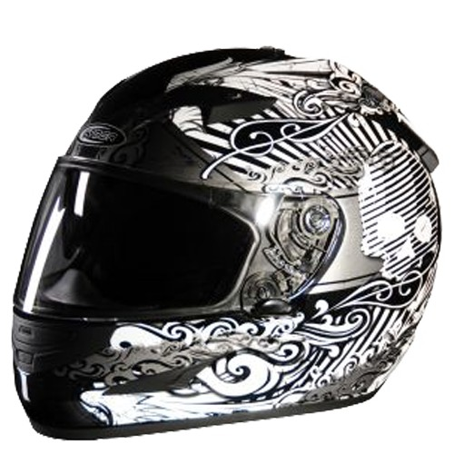 Moto helma Cyber US-97, stříbrná