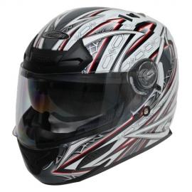 Moto helma Cyber US-100 bílo červená