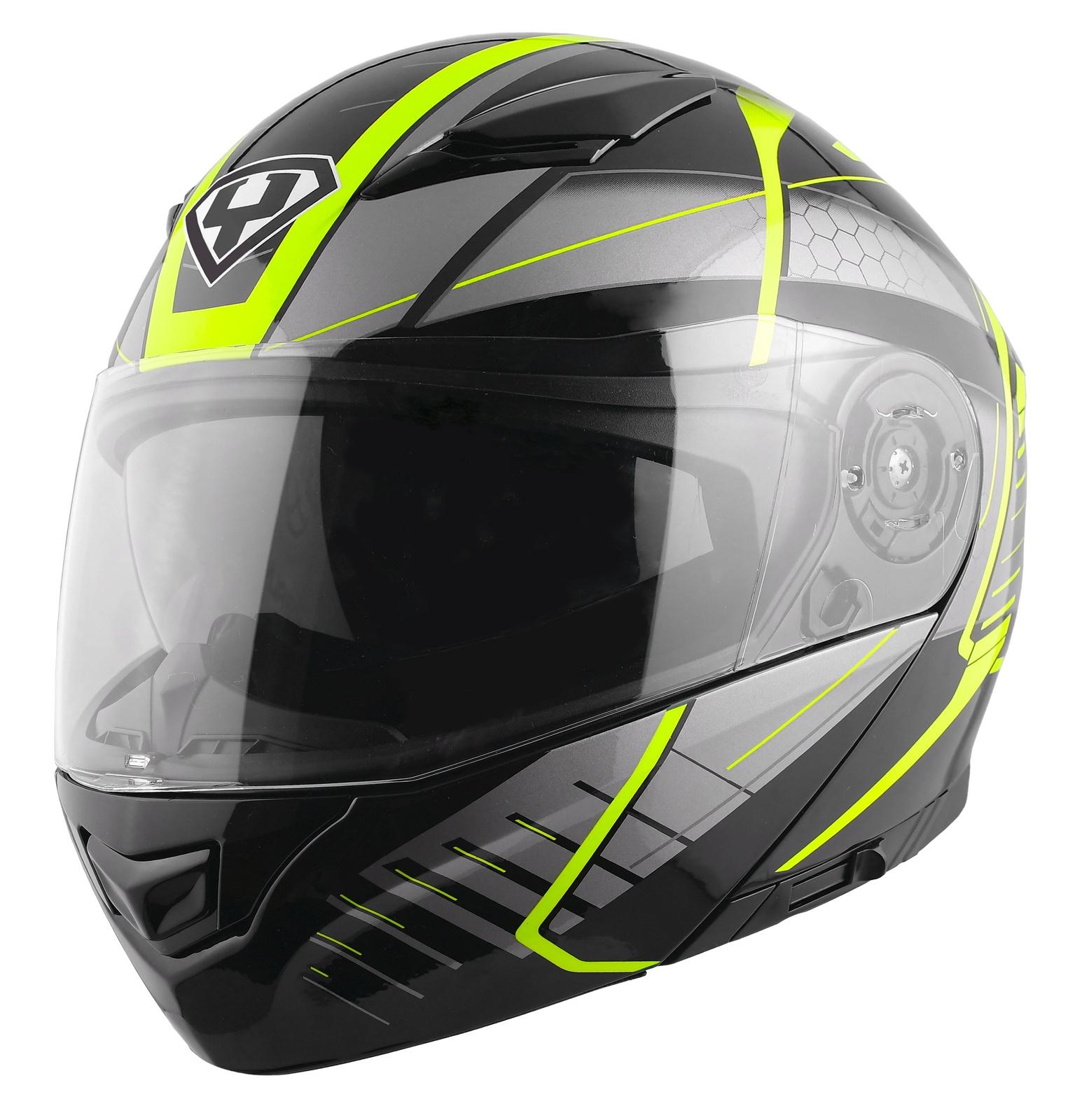 Moto helma Yohe 950-16 černá / Fluo