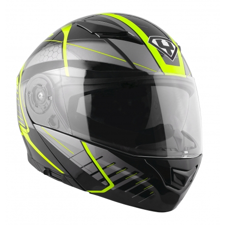 Moto helma Yohe 950-16, Black, Fluo