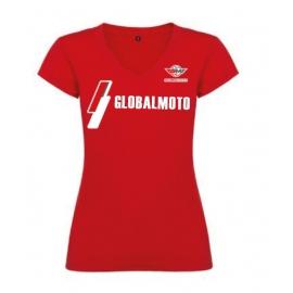 Dámské tričko GlobalMoto, červené