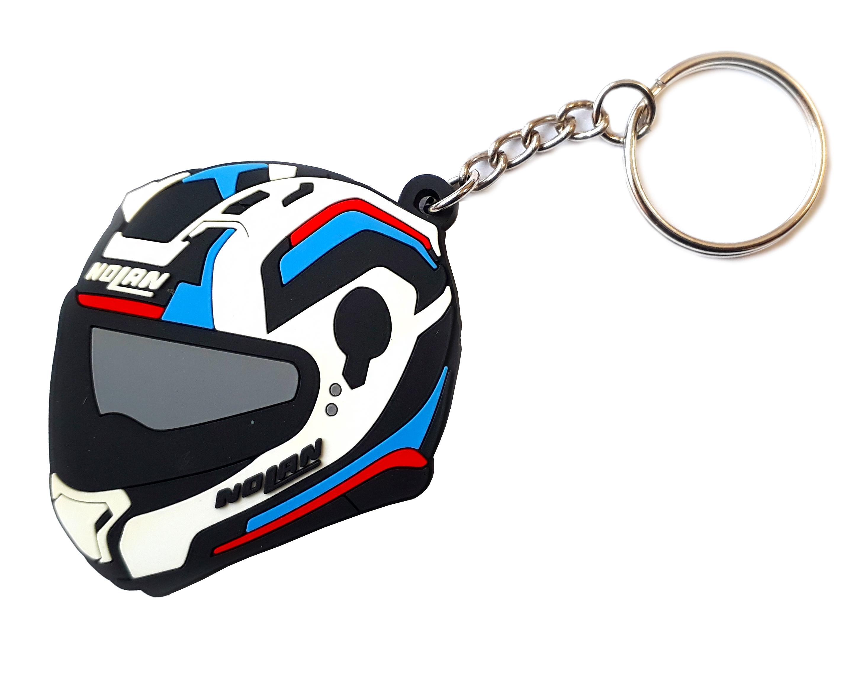Klíčenka s motivem helmy Nolan N87