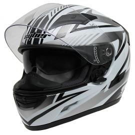 Moto helma Cyber US-80, šedá