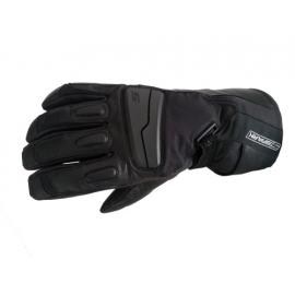 Pánské kožené moto rukavice Spark STT, černé OPRAVENÉ