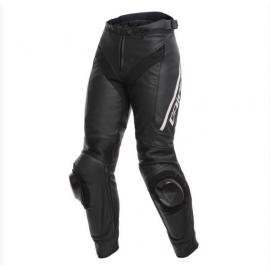 Dámské kožené moto kalhoty Dainese DELTA 3 LADY černá/bílá