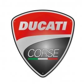 Plechová cedule Ducati Corse 40 x 42 cm