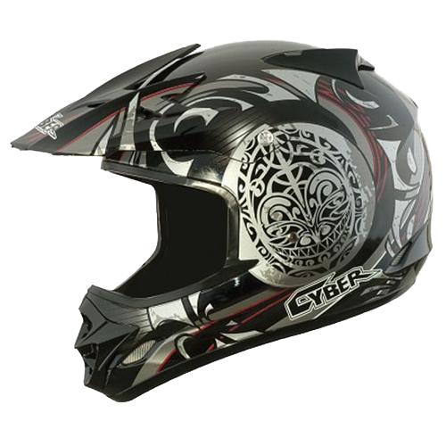 Moto helma Cyber UX-25, stříbrná