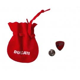 Odznak Ducati se sáčkem, červený