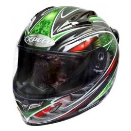 Moto helma Xpeed XF 706 Phoenix, zelená