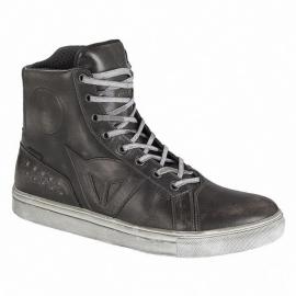 Kožené moto boty Dainese Street Rocker D-WP, černé
