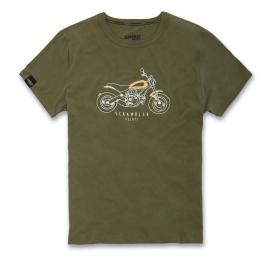 Pánské tričko Ducati Scrambler Heritage zelené, originál