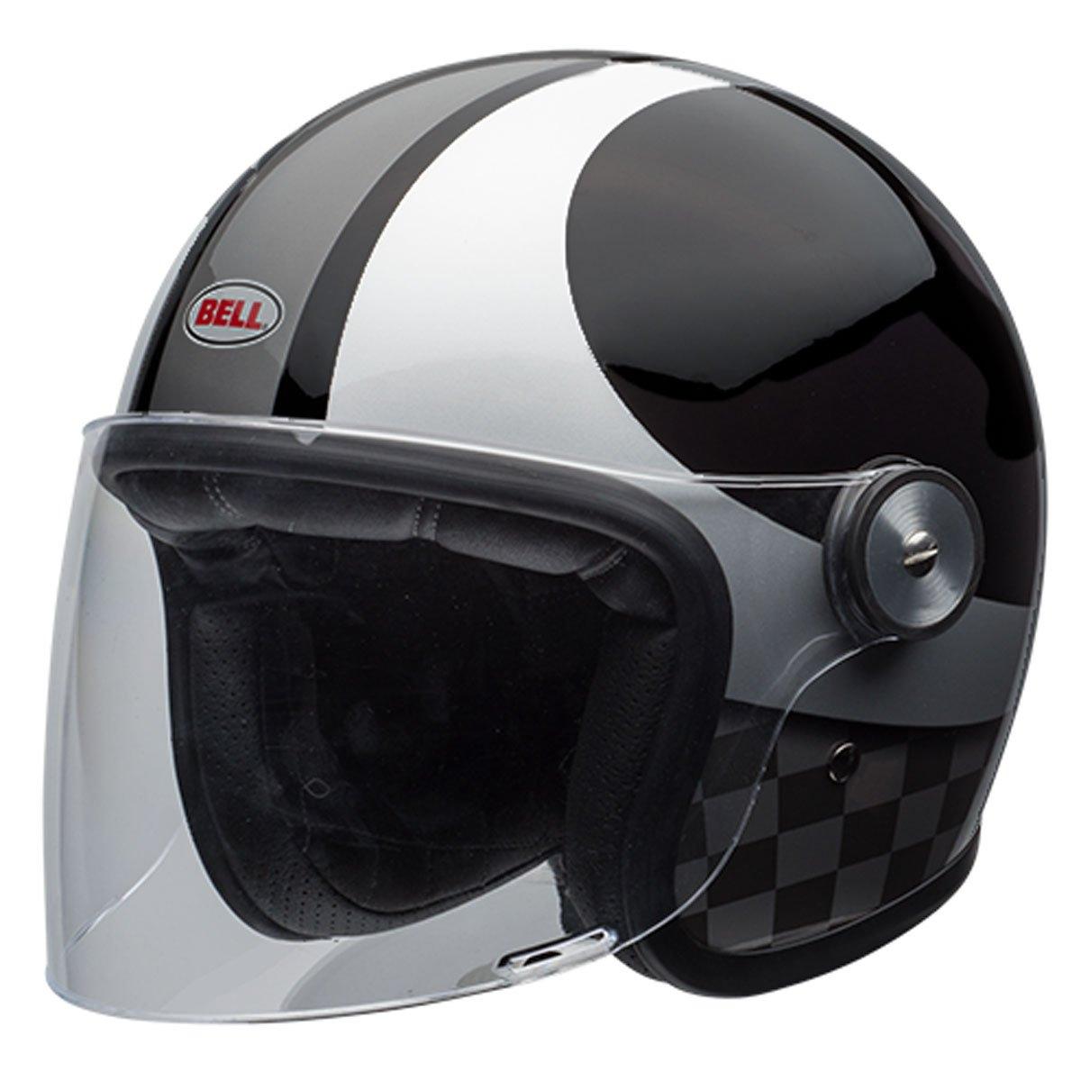 Moto helma Bell Riot Checkers Black
