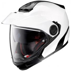 Moto helma Nolan N40-5 GT Classic N-Com Metal White 5