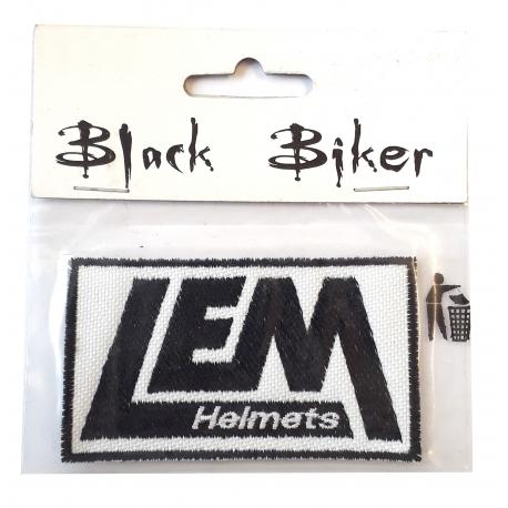 Nášivka Black Biker motiv Lem Helmets