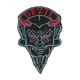 Nášivka Black Biker s motivem Devil