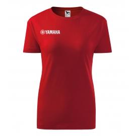 Dámské tričko Yamaha, červené