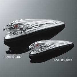 Motocyklové světlo na blatník Highway Hawk EAGLE HEAD, 120 mm, chrom 1ks