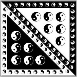 Čtyřcípý šátek motiv Jing Jang