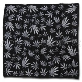 Čtyřcípý šátek motiv Marihuana