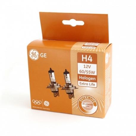 Halogenová žárovka H4 12V 60/55W Extra Life, General Electric